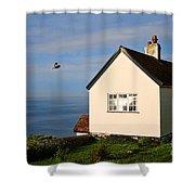 Morning Cottage At Lyme Regis Shower Curtain
