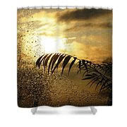 Morning Dew Screen Shower Curtain