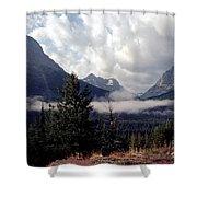 Morning East Glacier Park Shower Curtain