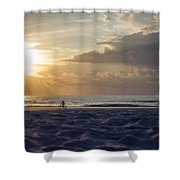 Morning Exercise  Shower Curtain