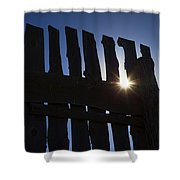 Morning Fence Shower Curtain