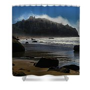 Morning Fog Burn Shower Curtain