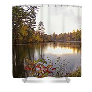 Morning Fog On The Lake Shower Curtain