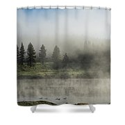 Morning Fog On The Yellowstone Shower Curtain