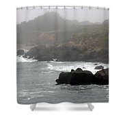 Morning Fog - Pacific Coast Highway No. 2 Shower Curtain