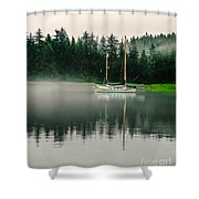 Morning Fog Shower Curtain by Robert Bales