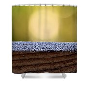 Morning Frost Abstract Shower Curtain