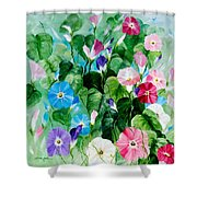 Morning Glory Bouquet Shower Curtain