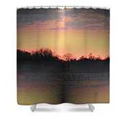 Morning Glow On A Frosty Day Shower Curtain