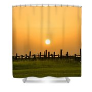 Morning Gold Shower Curtain