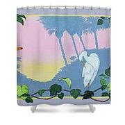Morning Heron Shower Curtain