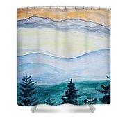 Morning Hills Shower Curtain