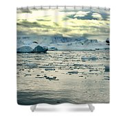 Morning Ice Flow Shower Curtain