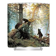 Morning In A Pine Forest Shower Curtain by Ivan Shishkin