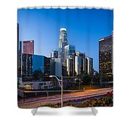 Morning In Los Angeles Shower Curtain by Inge Johnsson