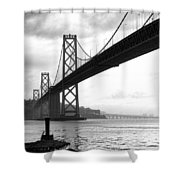 Morning In San Francisco Bw Shower Curtain