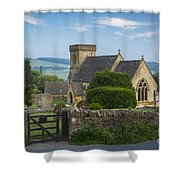 Morning In Snowshill Shower Curtain