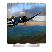Morning In The Valley Shower Curtain