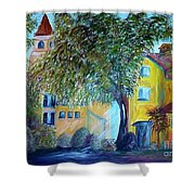 Morning In Tuscany Shower Curtain