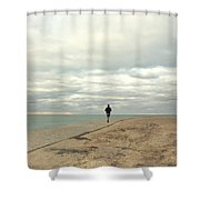 Morning Jog Shower Curtain