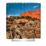 Morning Light At Garden Of The Gods Shower Curtain