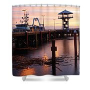 Morning Light At Port Angeles Shower Curtain