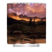Morning Light Maligne Pass Shower Curtain