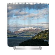 Morning Light On Lake Wakatipu And The Mountains Shower Curtain
