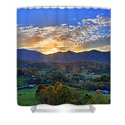 Morning Light Over Leicester Shower Curtain
