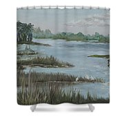 Morning Marsh At Babcock Ranch Shower Curtain