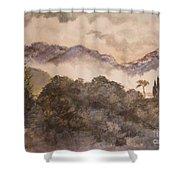 Morning Mist Pasadena Shower Curtain