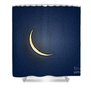Morning Moon Textured Shower Curtain