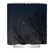 Morning Moon Shower Curtain