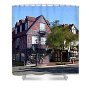 Morning On 2nd Street Solvang California Shower Curtain
