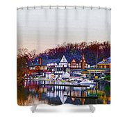 Morning On Boathouse Row Shower Curtain