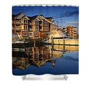 Morning On The Docks Shower Curtain
