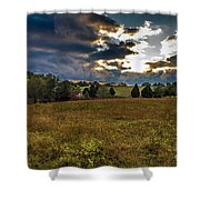 Morning On The Farm Three Shower Curtain