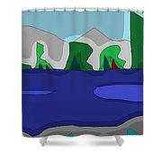 Morning On The Fraser River Near Maple Ridge Shower Curtain