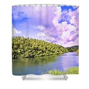 Morning On The Hanalei River Shower Curtain
