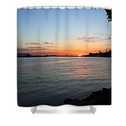 Morning On The Kill Van Kull Shower Curtain