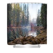 Morning On The Merced Shower Curtain