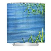 Morning On The Pond Shower Curtain