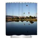 Morning On The Yakima River Shower Curtain by Carol Groenen