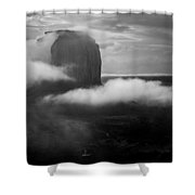 Morning Rain In Monument Valley Shower Curtain