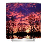Morning Reflection Shower Curtain