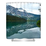 Morning Reflection In Emerald Lake In Yoho National Park-british Columbia-canada Shower Curtain
