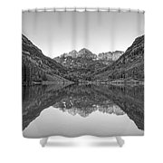 Morning Reflections Bw Shower Curtain