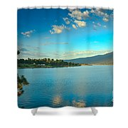 Morning Reflections On Lake Cascade Shower Curtain