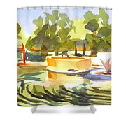 Morning Ripples At Ste. Marie Du Lac Pond Shower Curtain