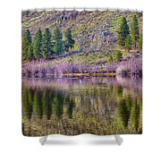 Morning Rowing Shower Curtain